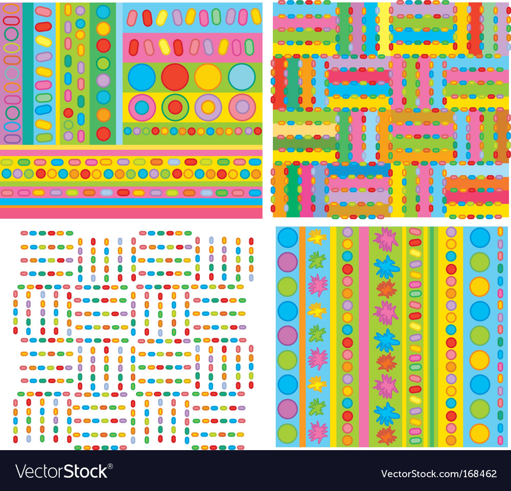 Funky geometric designs vector image