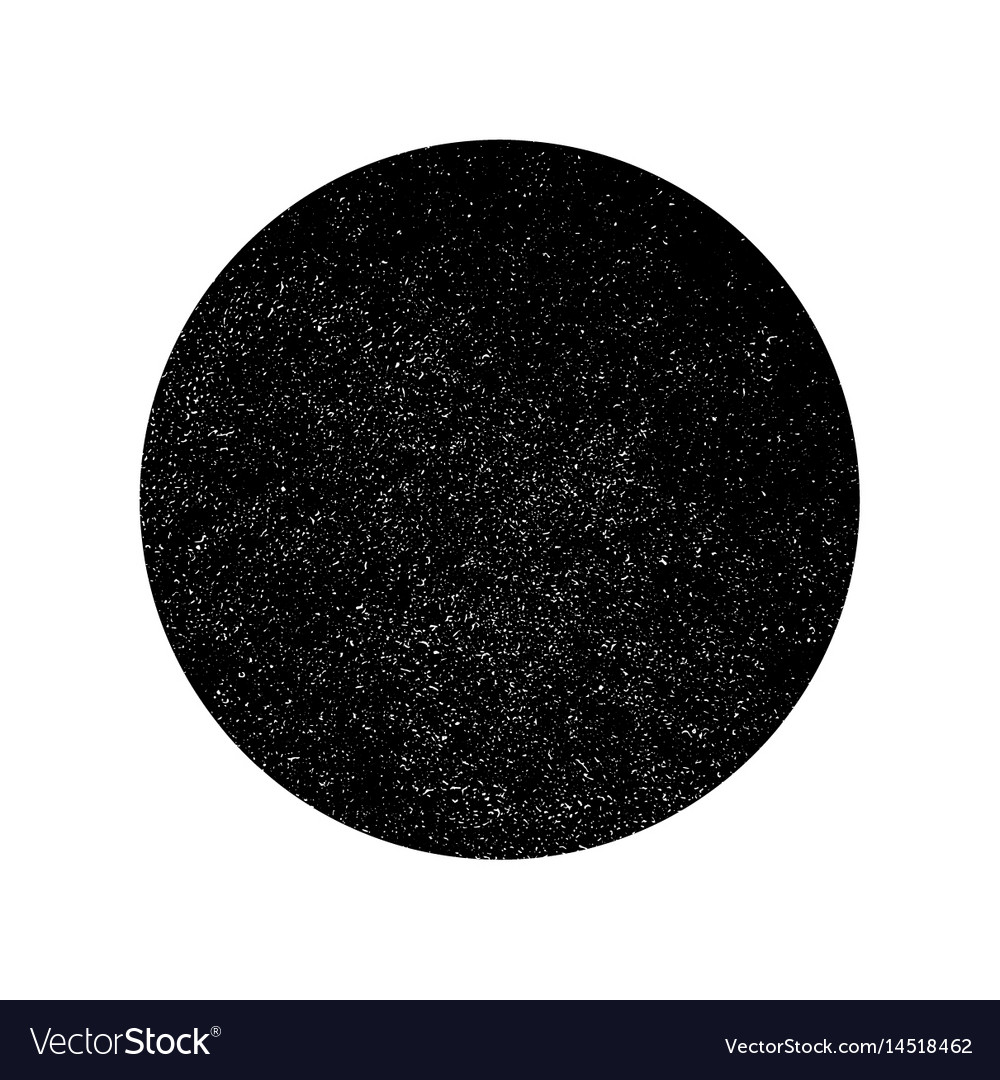 Grunge monochrome circle background abstract vector image