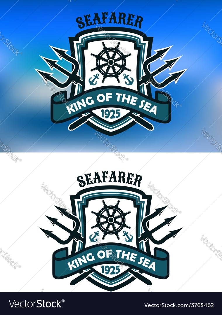 Seafarer marine banner vector image