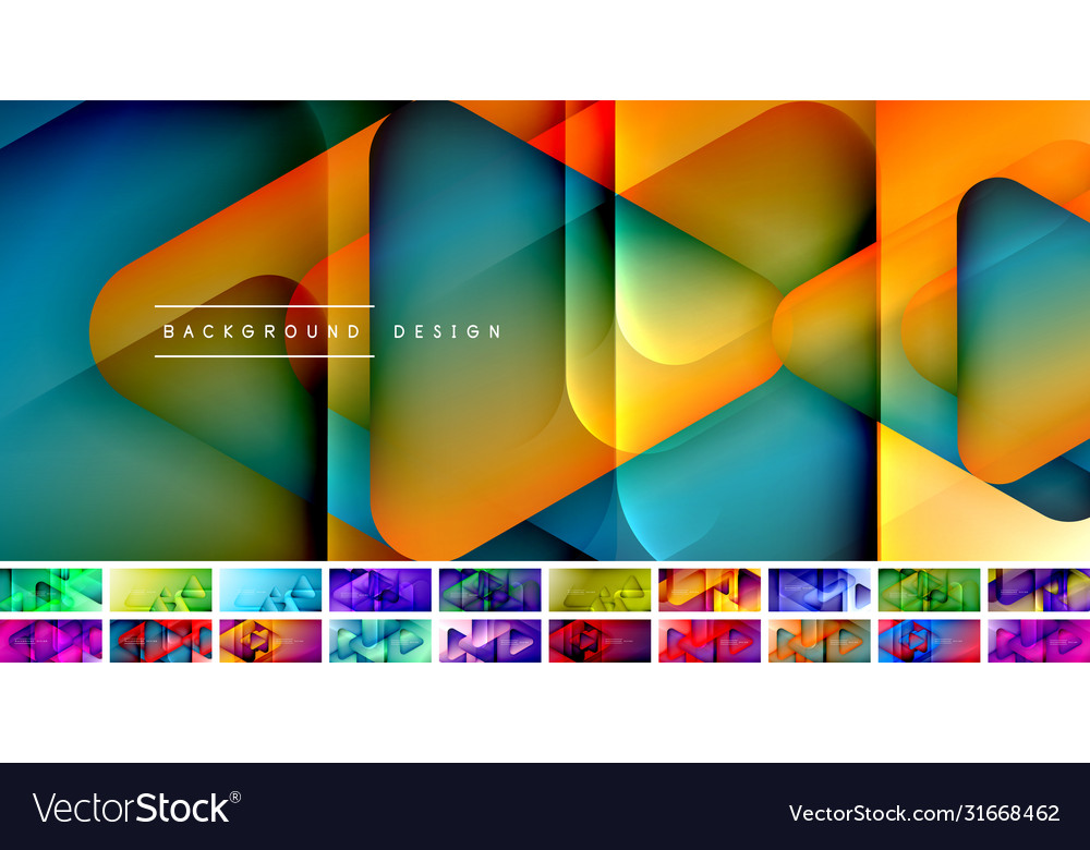 Set triangle shapes composition geometric