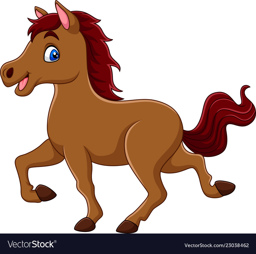 Smiling horse cartoon Royalty Free Vector Image