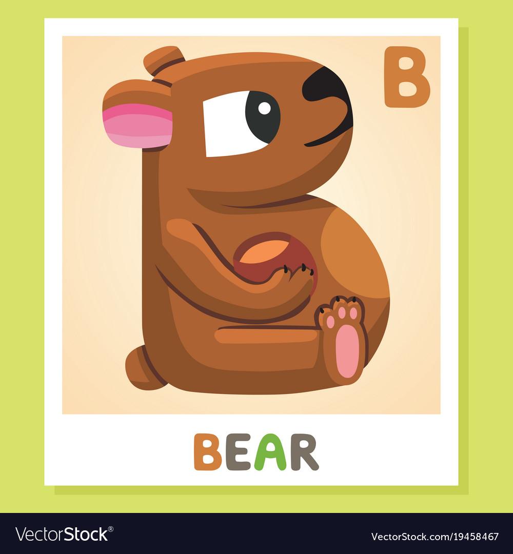 B is for bear letter b bear cute