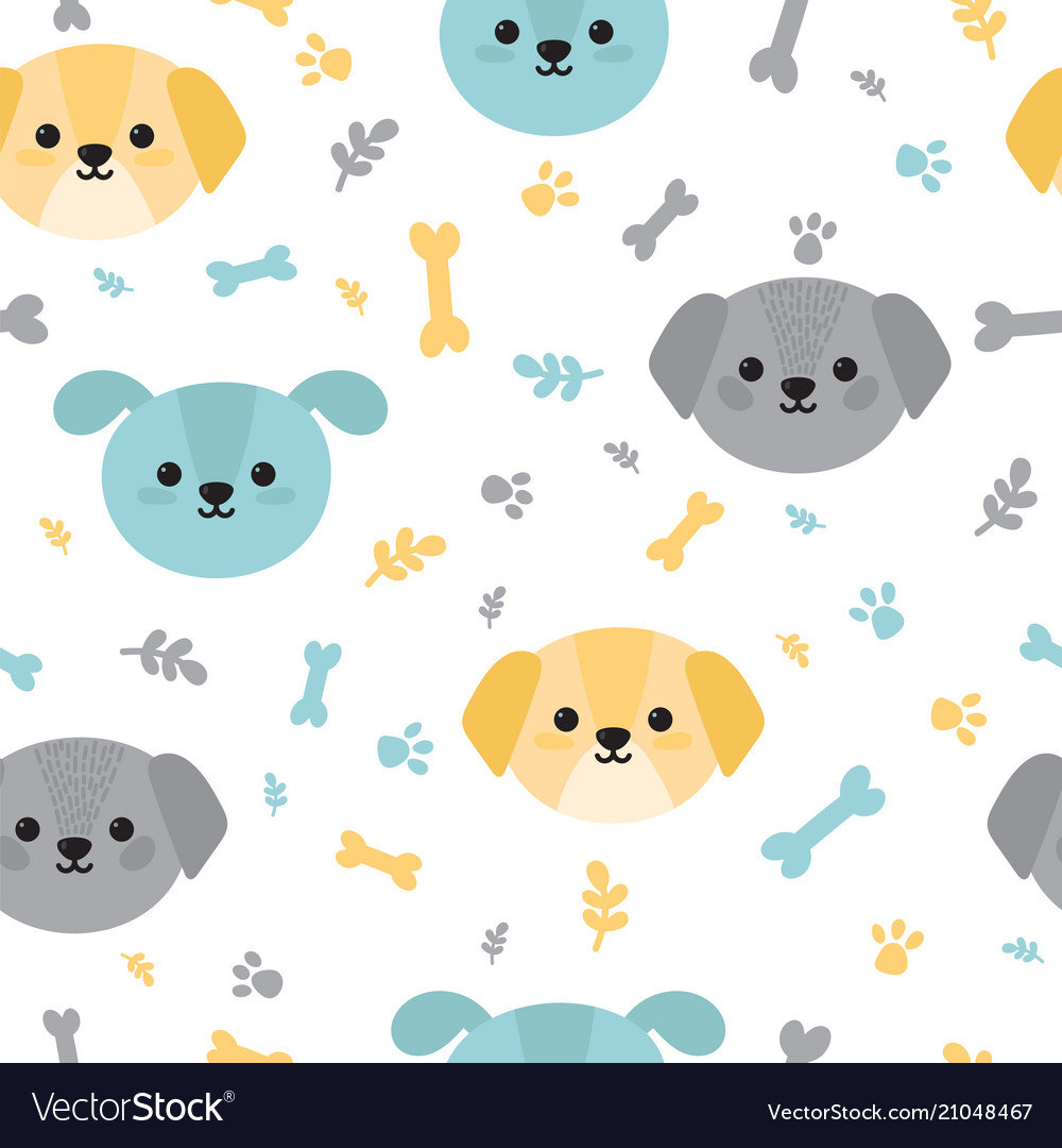 Childish seamless pattern with cute little