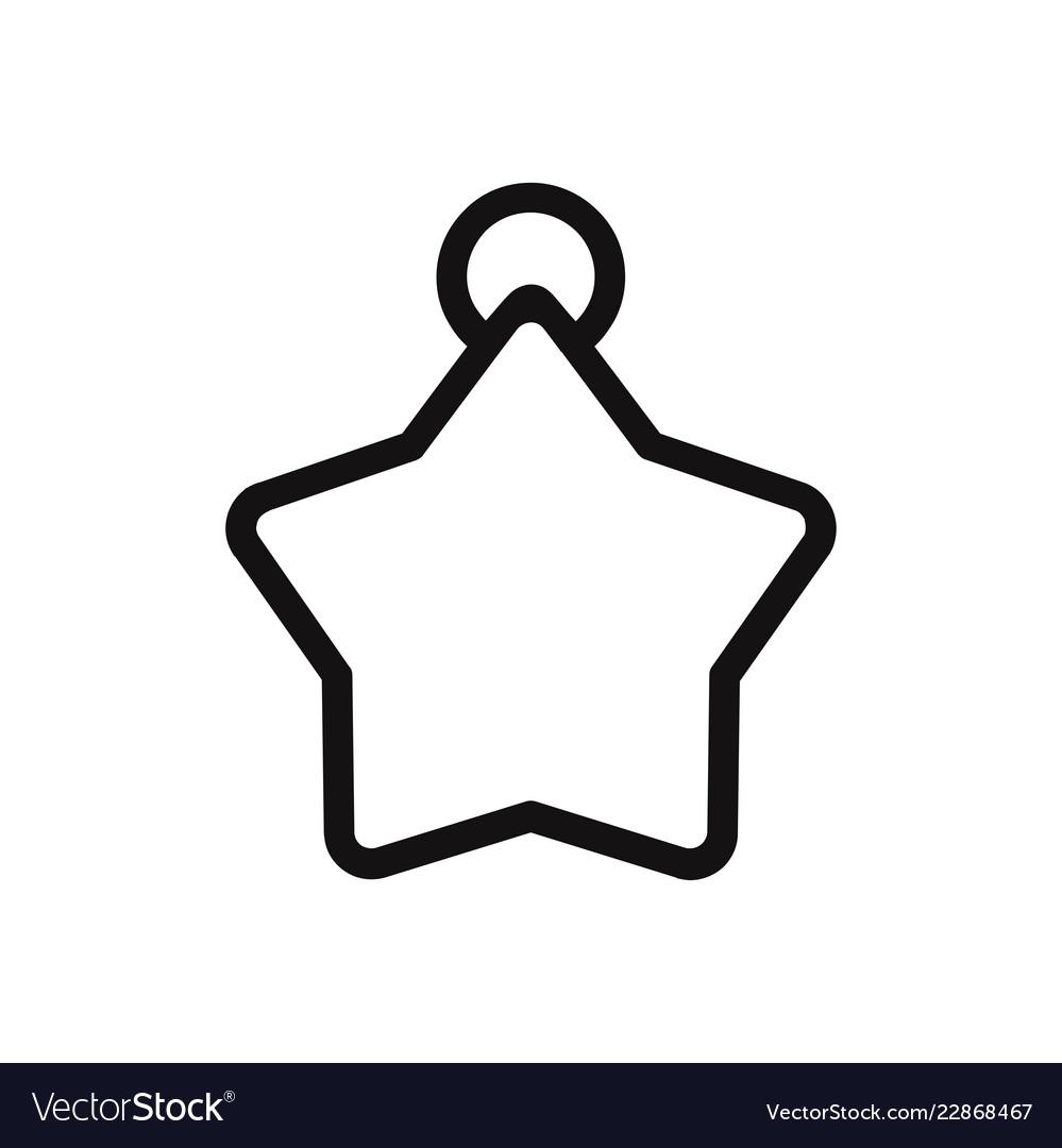 Christmas star ball icon
