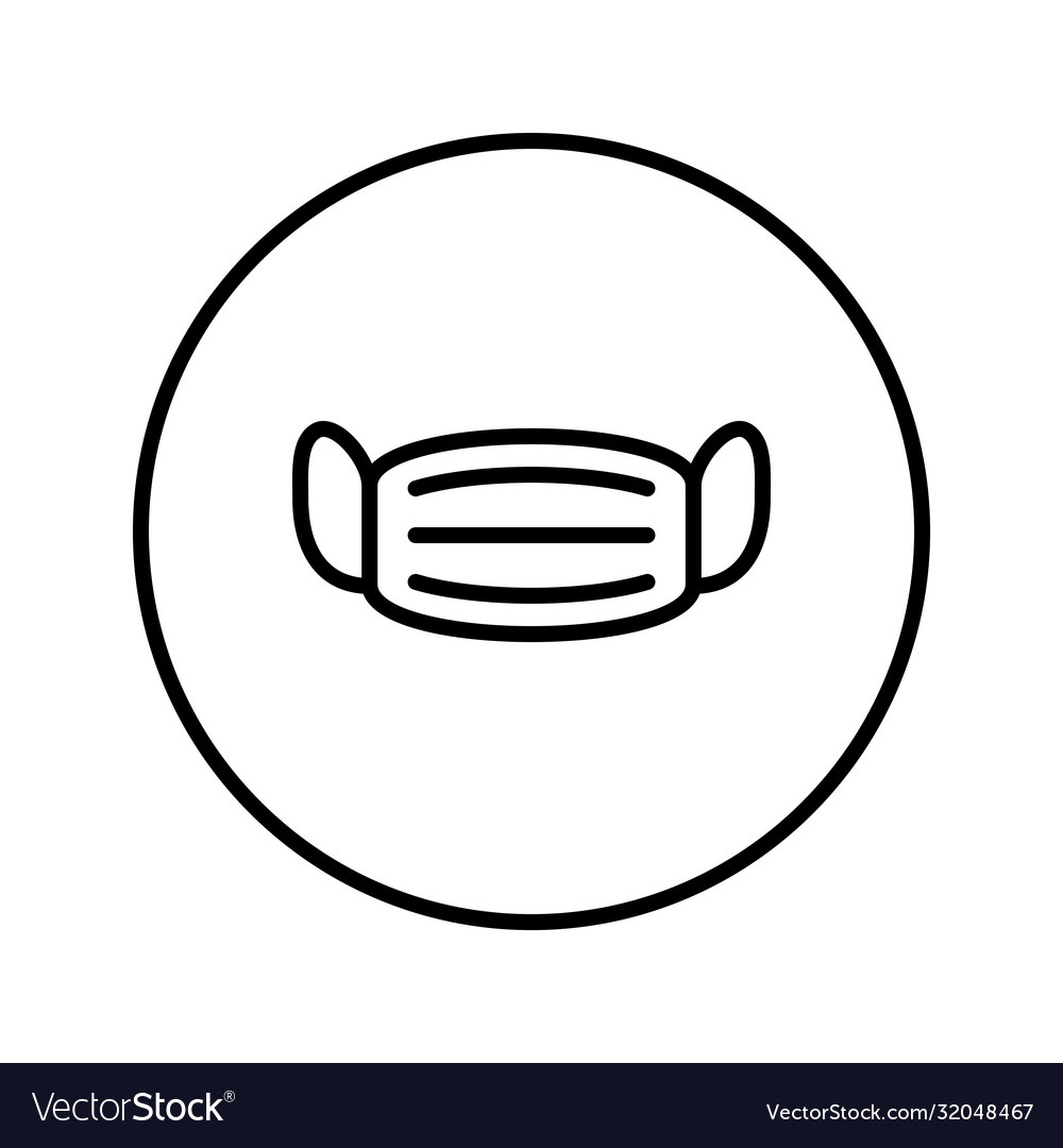 Medical mask universal icon thin line