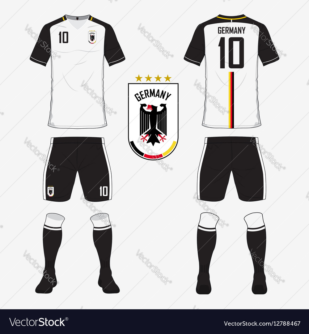 4fa5b55a97a9 soccer kit or football jersey template for germany .