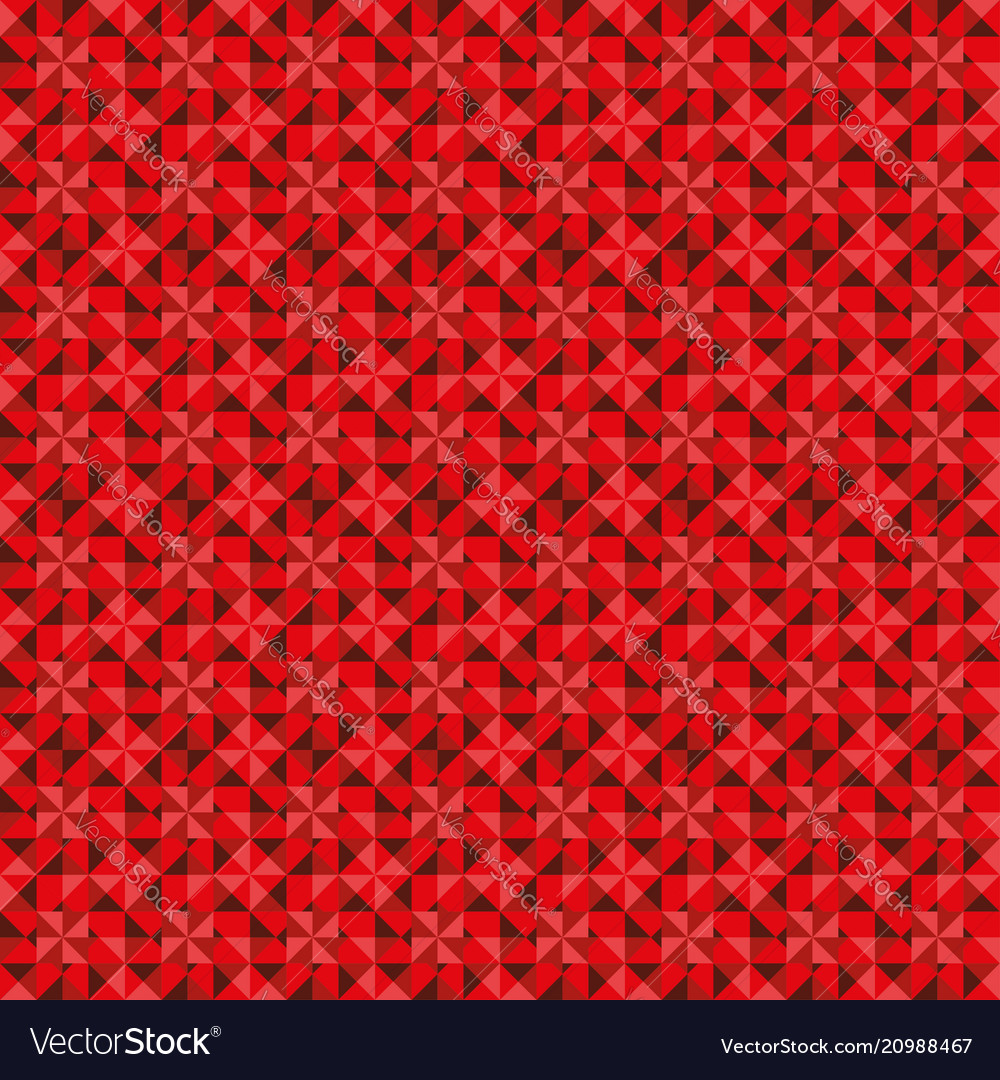 Star triangle abstract background in red color