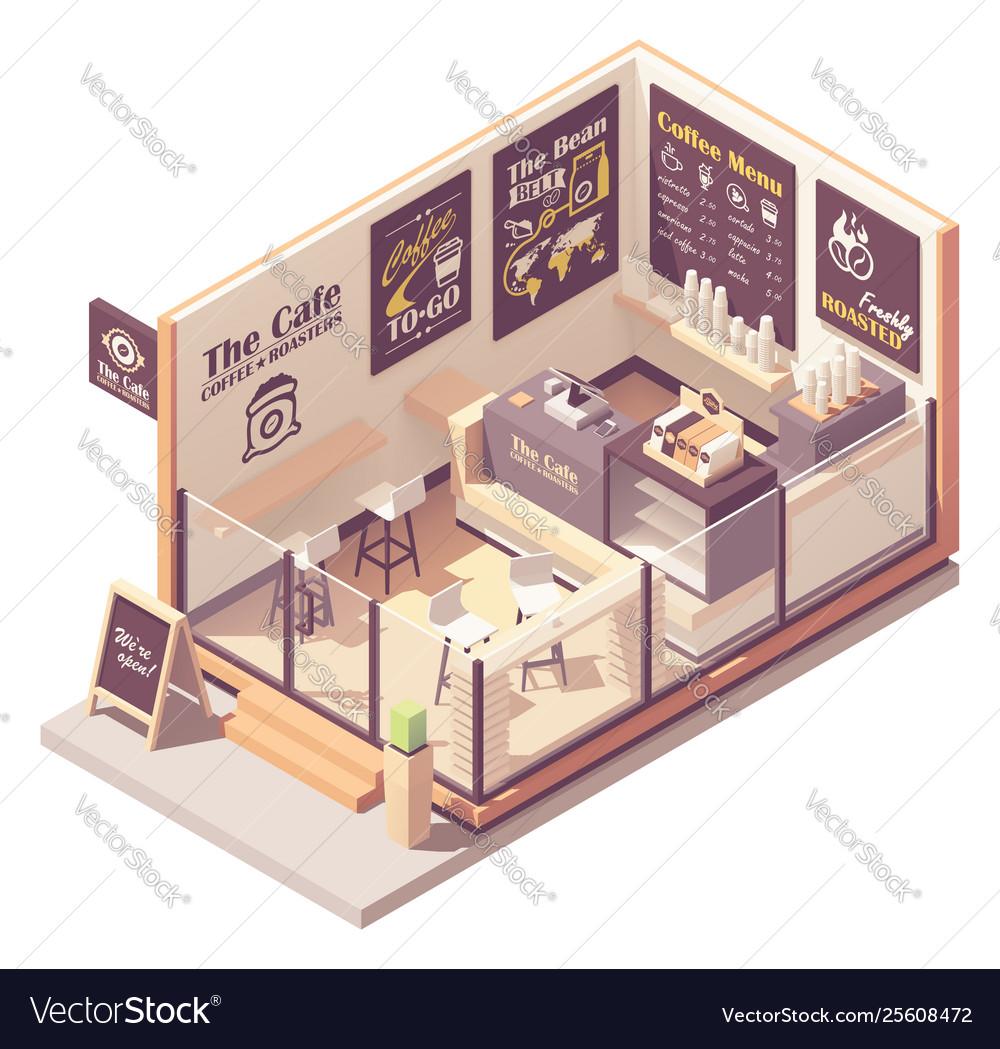 Isometric small coffeehouse
