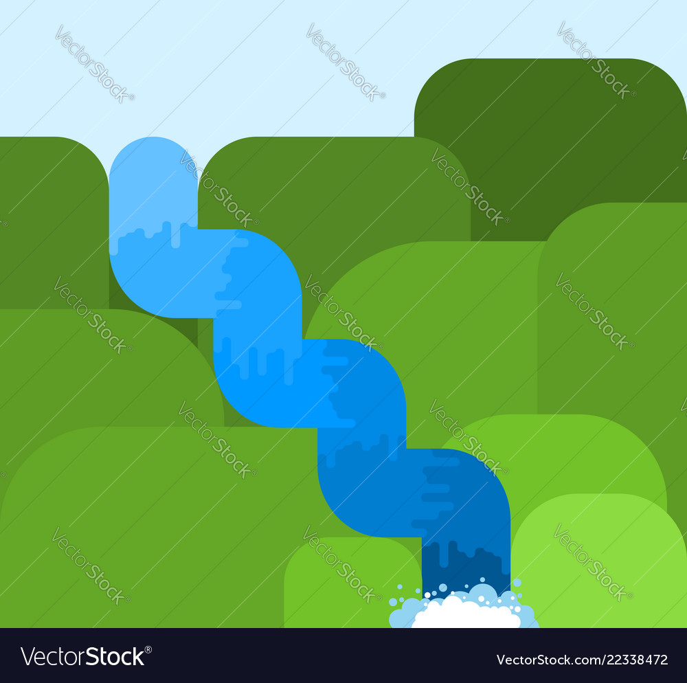 Mountain river in rocks fast clean fresh water