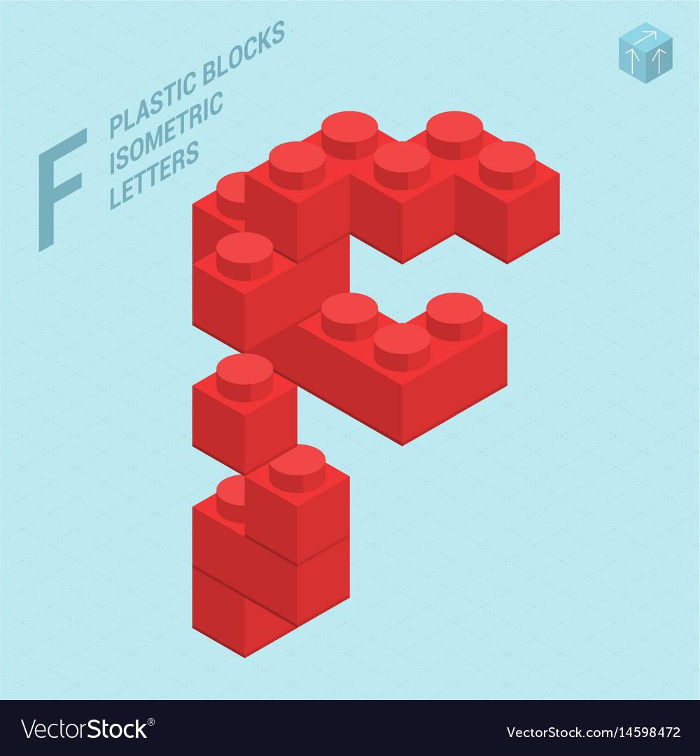 Plastic blocs letter f