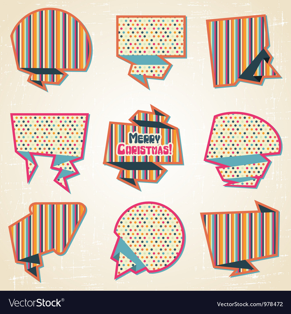 Retro speech bubbles set
