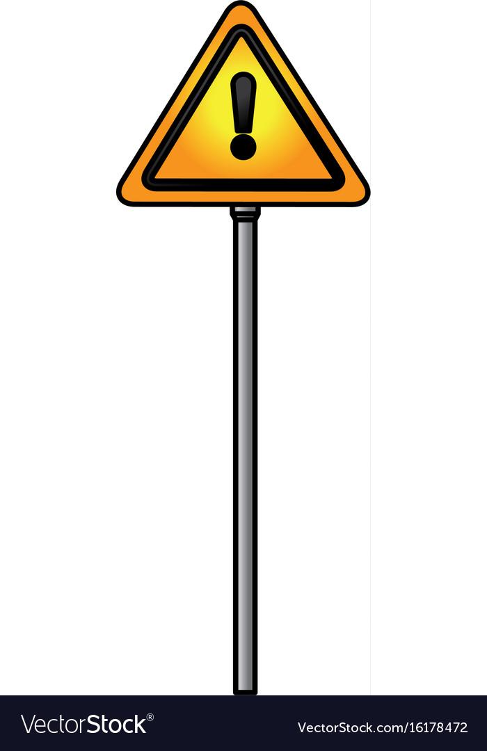 Traffic Signal Alert Symbol Royalty Free Vector Image