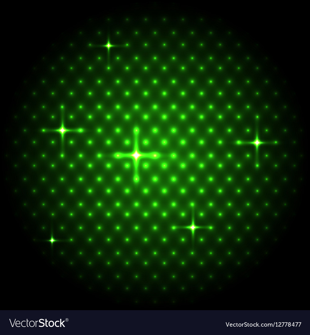 Abstract global with green dots background