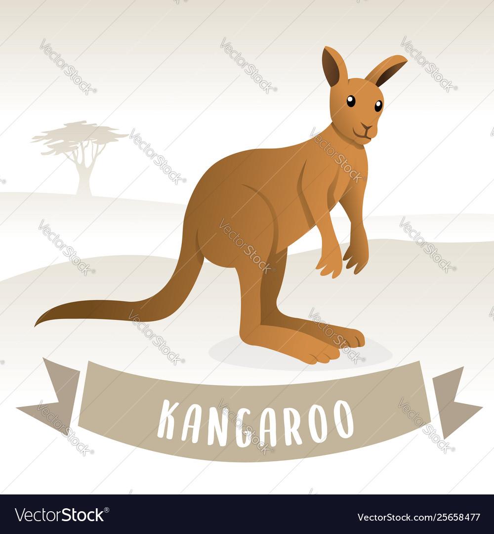 Brown cute kangaroo