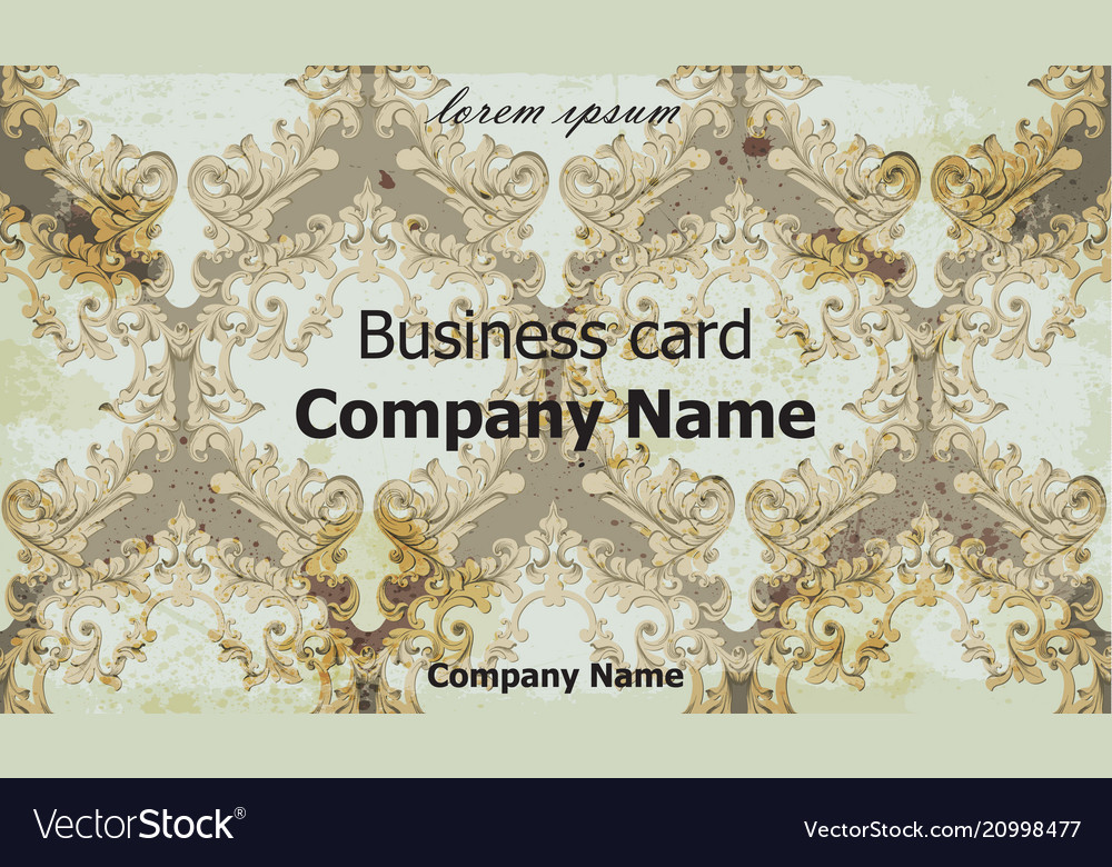 Business card classic ornament background