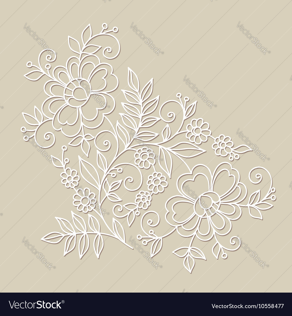 Flower design element Drawing flowers