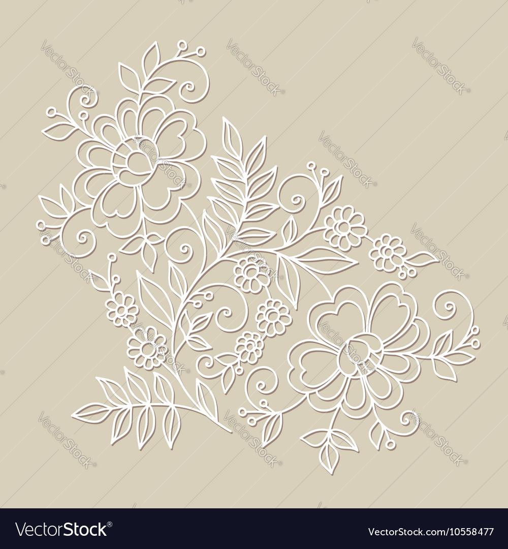 Flower design element Drawing flowers vector image