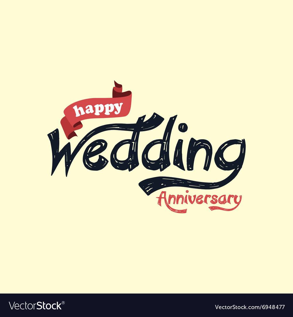 Happy wedding anniversary theme Royalty Free Vector Image