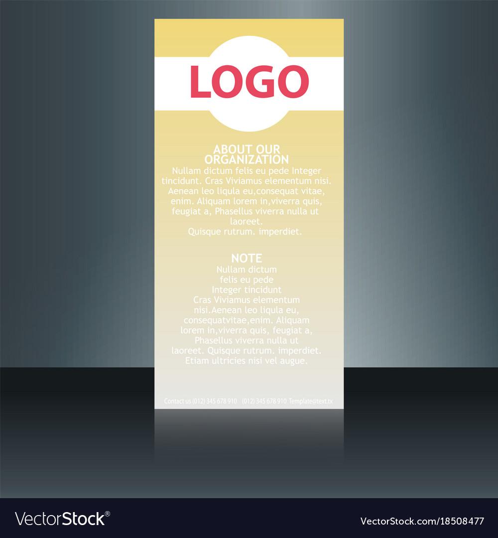 medical brochure flyer design template a4 size vector image