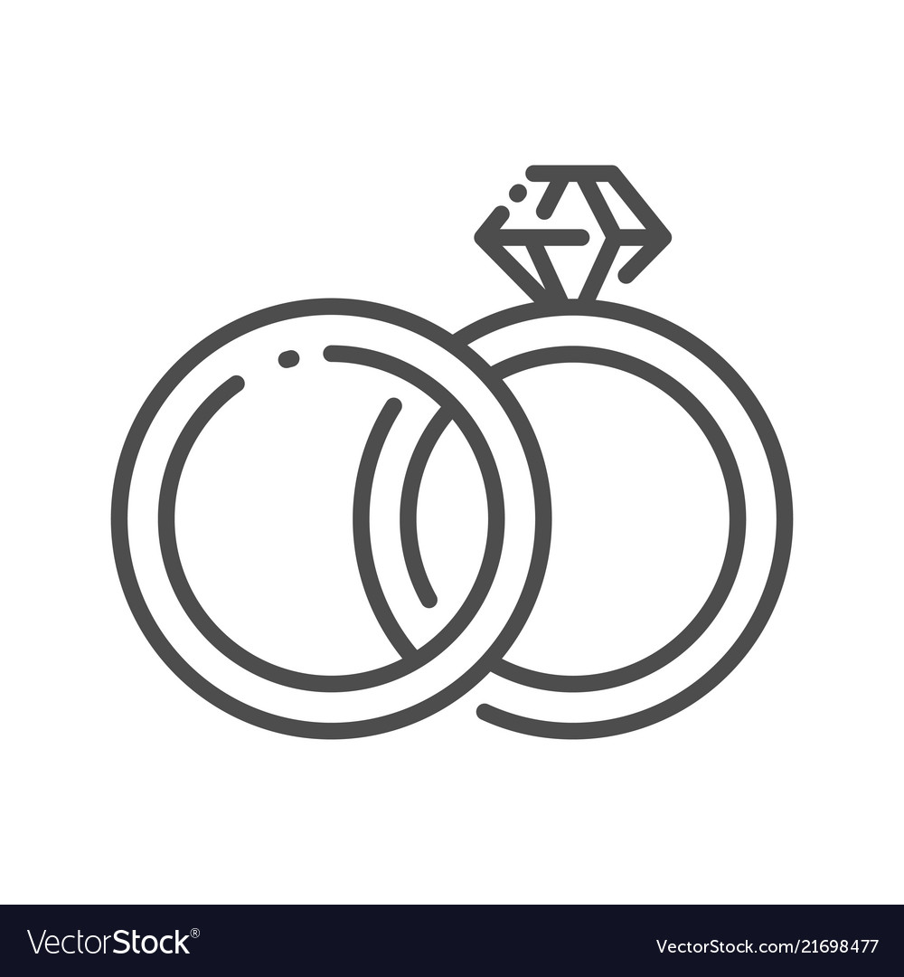 Outline Wedding Ring Royalty Free Vector Image