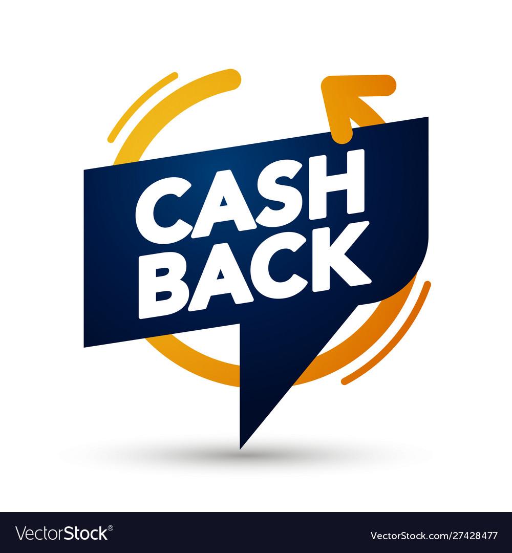 Premium cash back banner bubble web element label