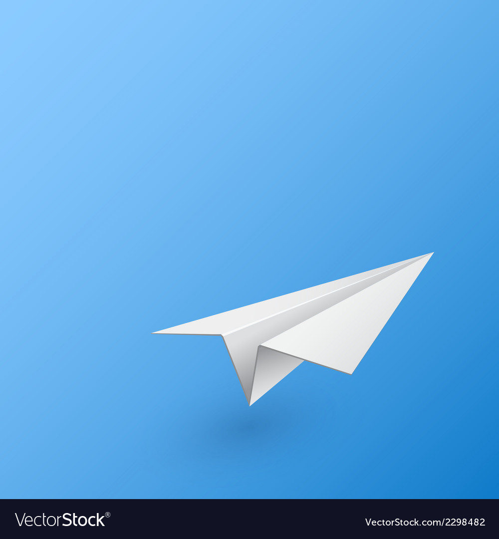 abstract background with paper airplane royalty free vector