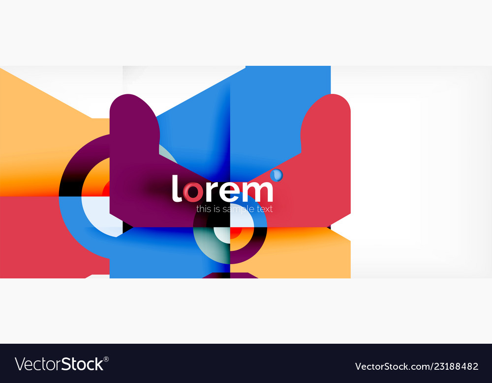 Abstract round elements composition background