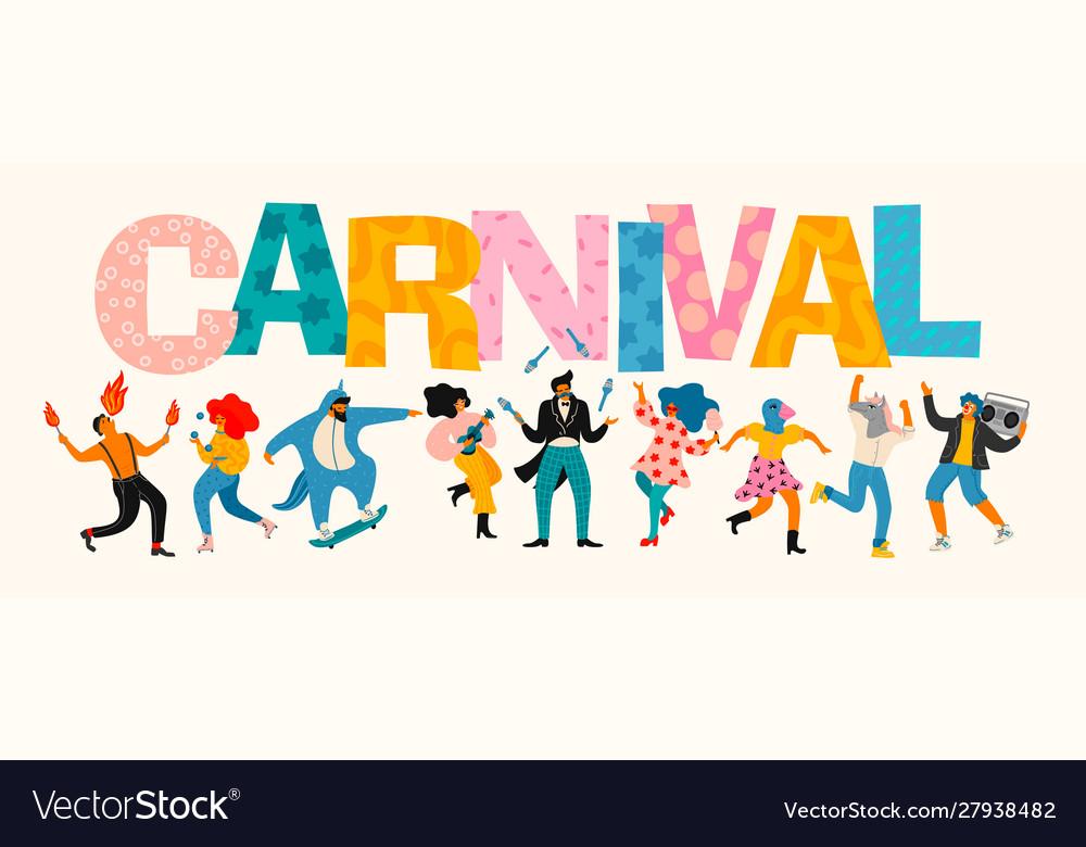 Carnival funny dancing men