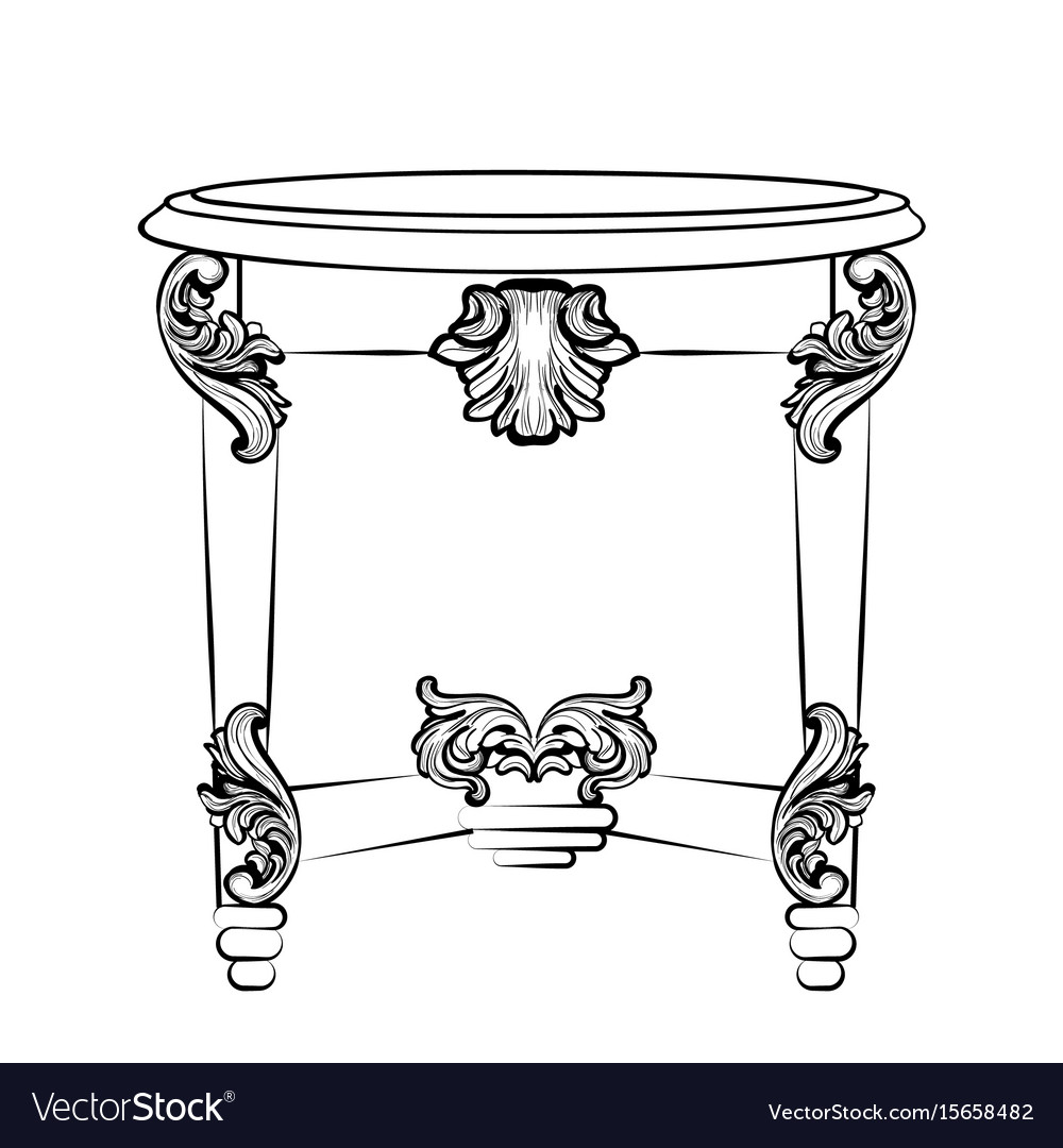 Imperial baroque console table french luxury