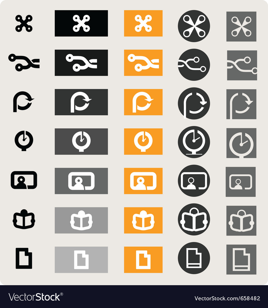 infographic icons royalty free vector image vectorstock