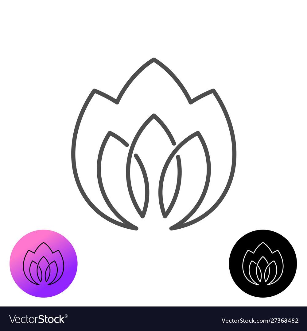 Line style flower or plant elegant logo three