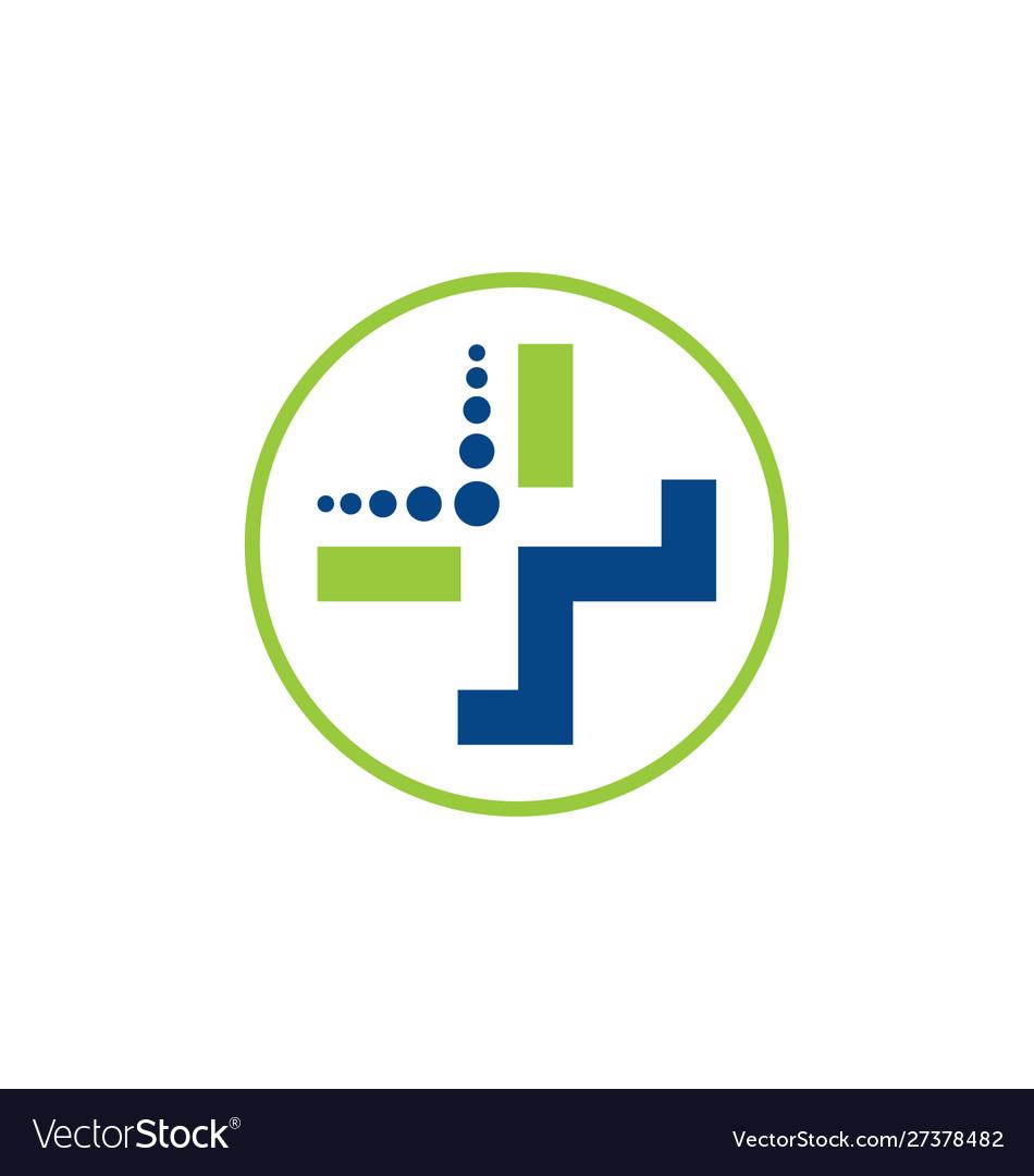 Medicine symbol medical logo vector image