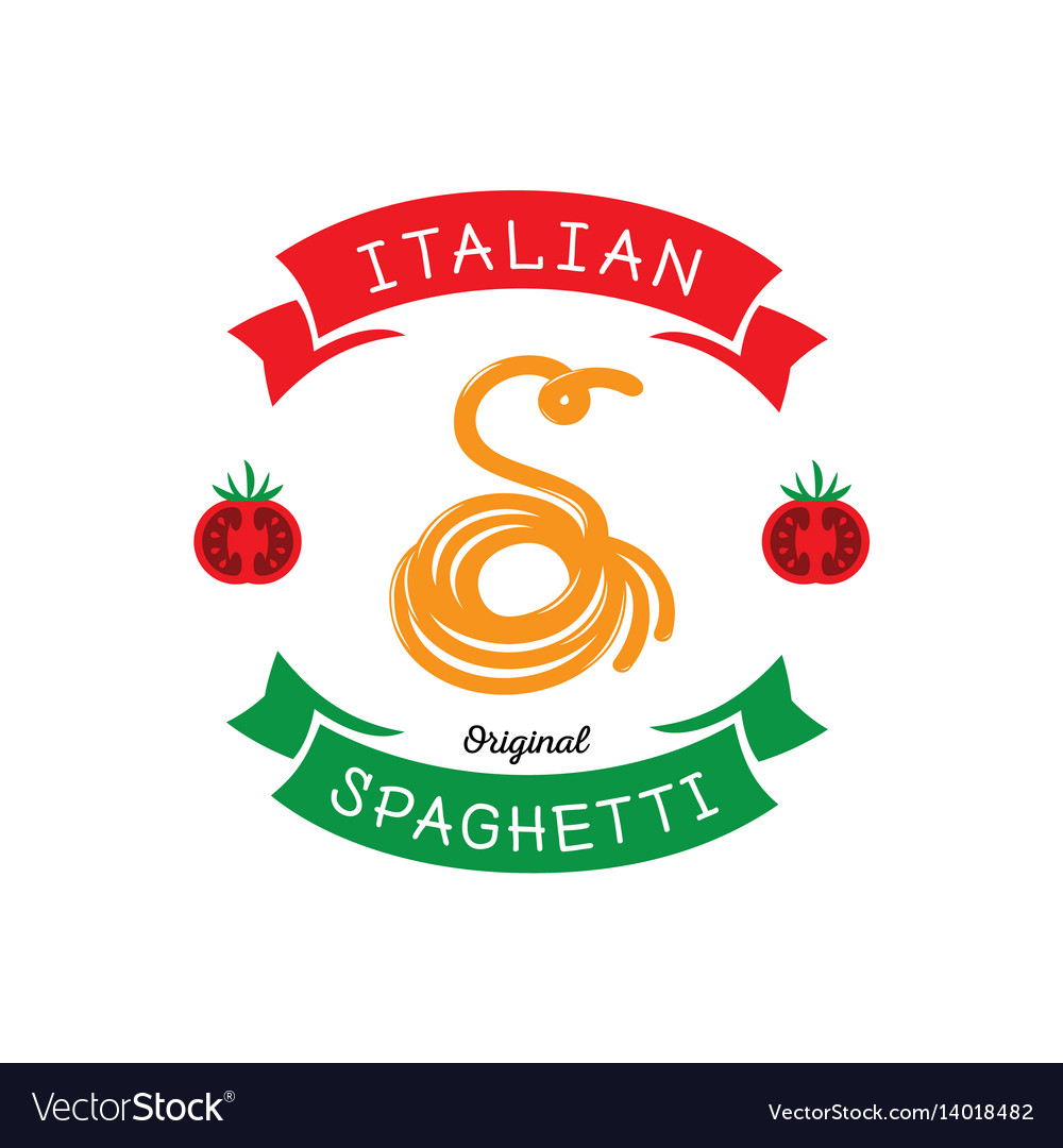 Original spaghetti with s letter typography