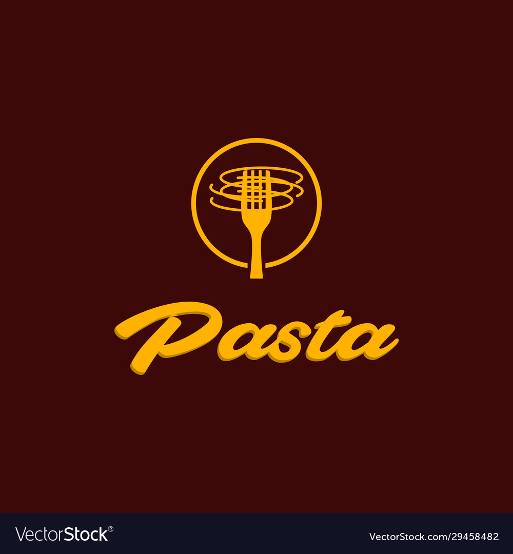 Pasta Menu Restaurant Abstract Creative Logo Vector Image