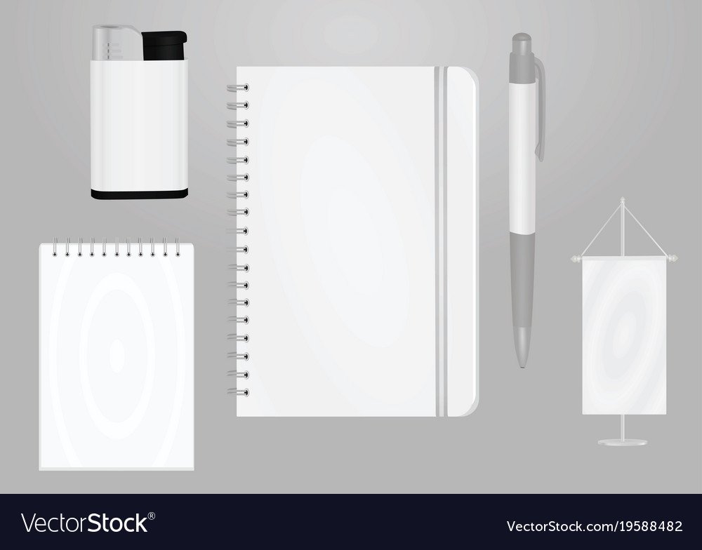 promotional items template royalty free vector image
