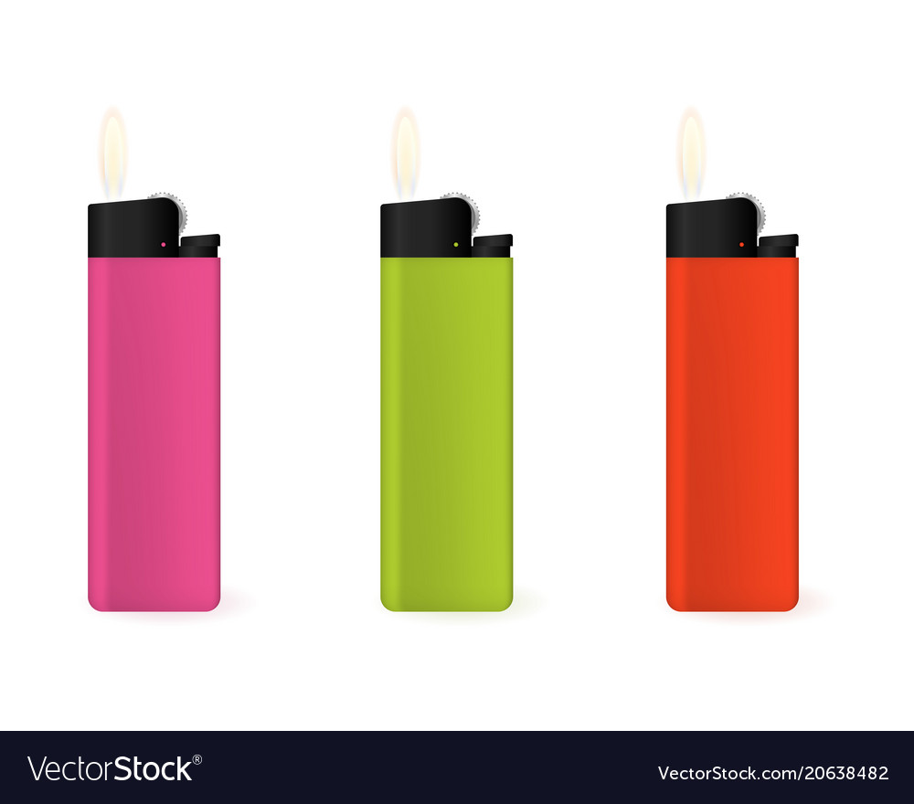 Set of multi-colored lighters