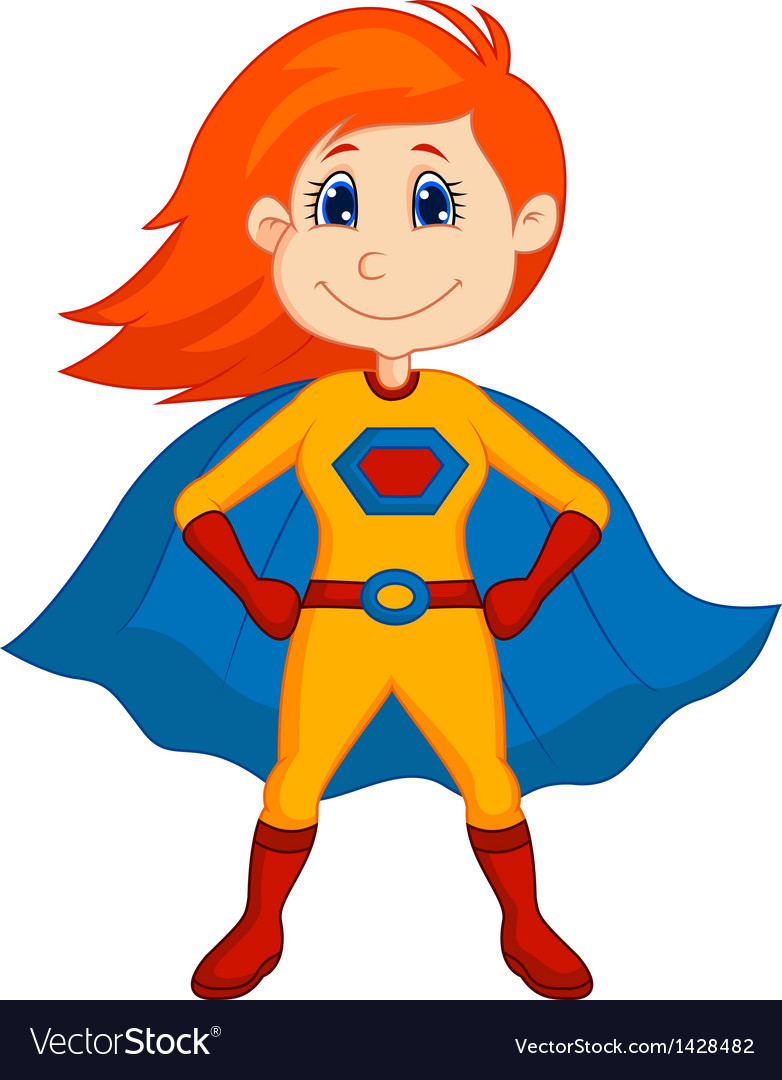 superhero kid cartoon royalty free vector image rh vectorstock com vector cartoon fish vector cartoon background
