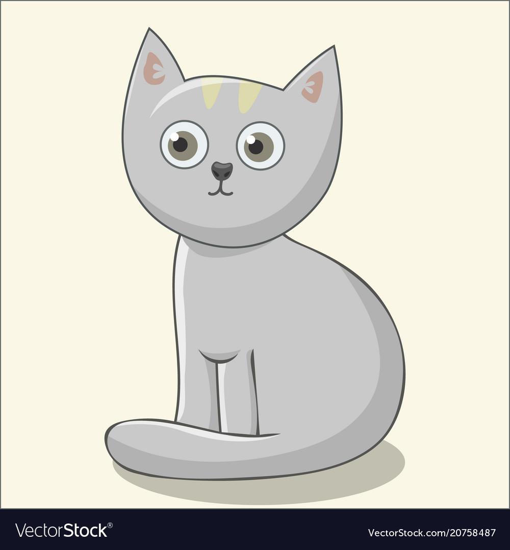 Cute cat for kids print