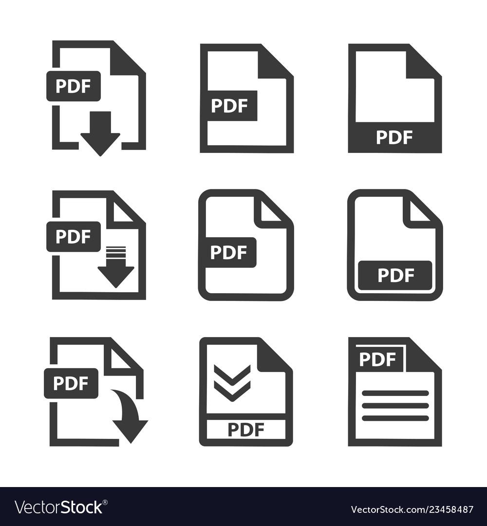 Pdf file icon set