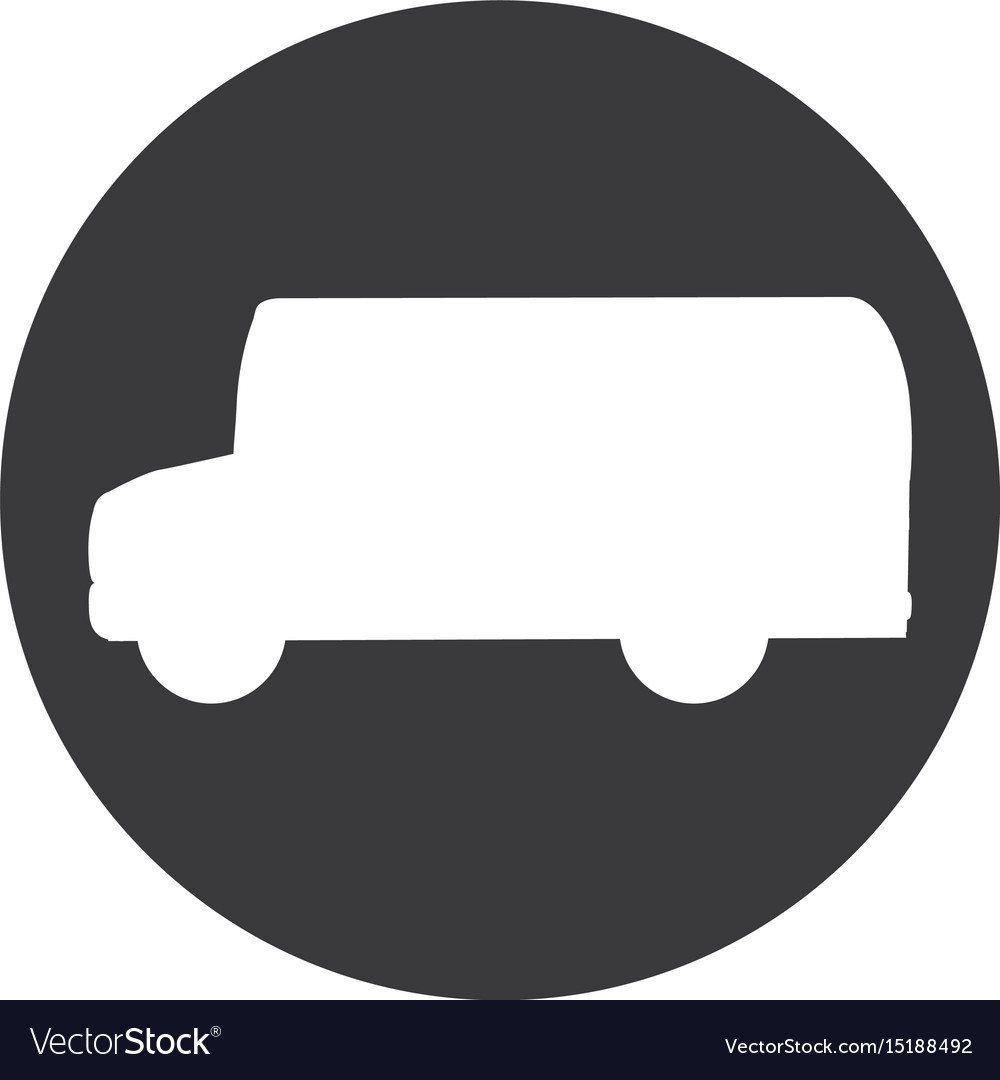 Bus silhouette isolated icon