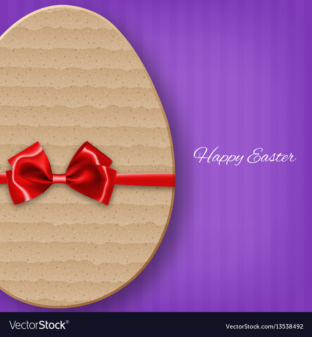 Cardboard easter egg with bow