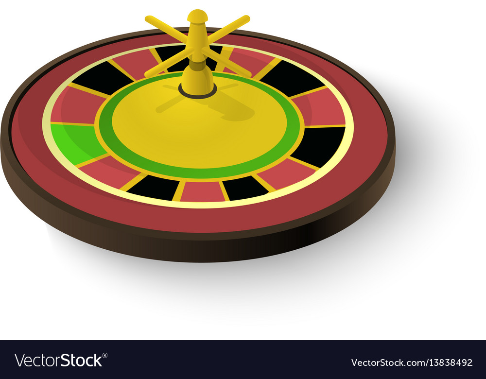 Casino roulette icon isometric 3d style