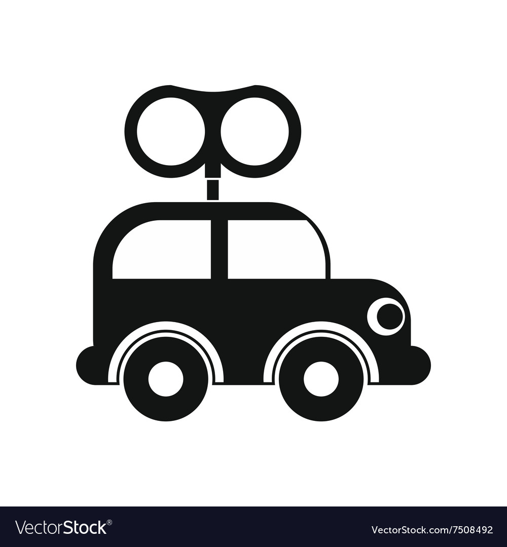 Clockwork Toy Car Icon Royalty Free Vector Image