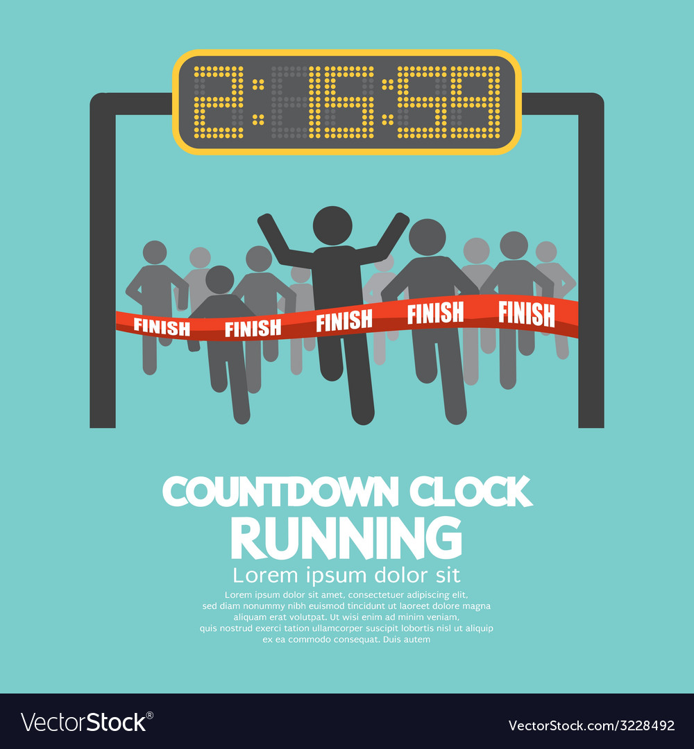 Countdown Clock At Finish Line