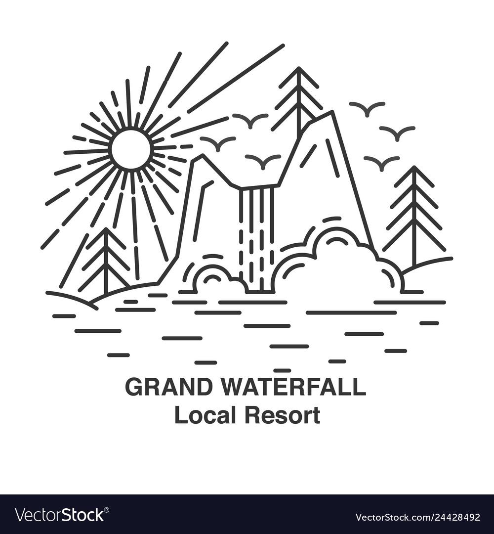 Flat line waterfall