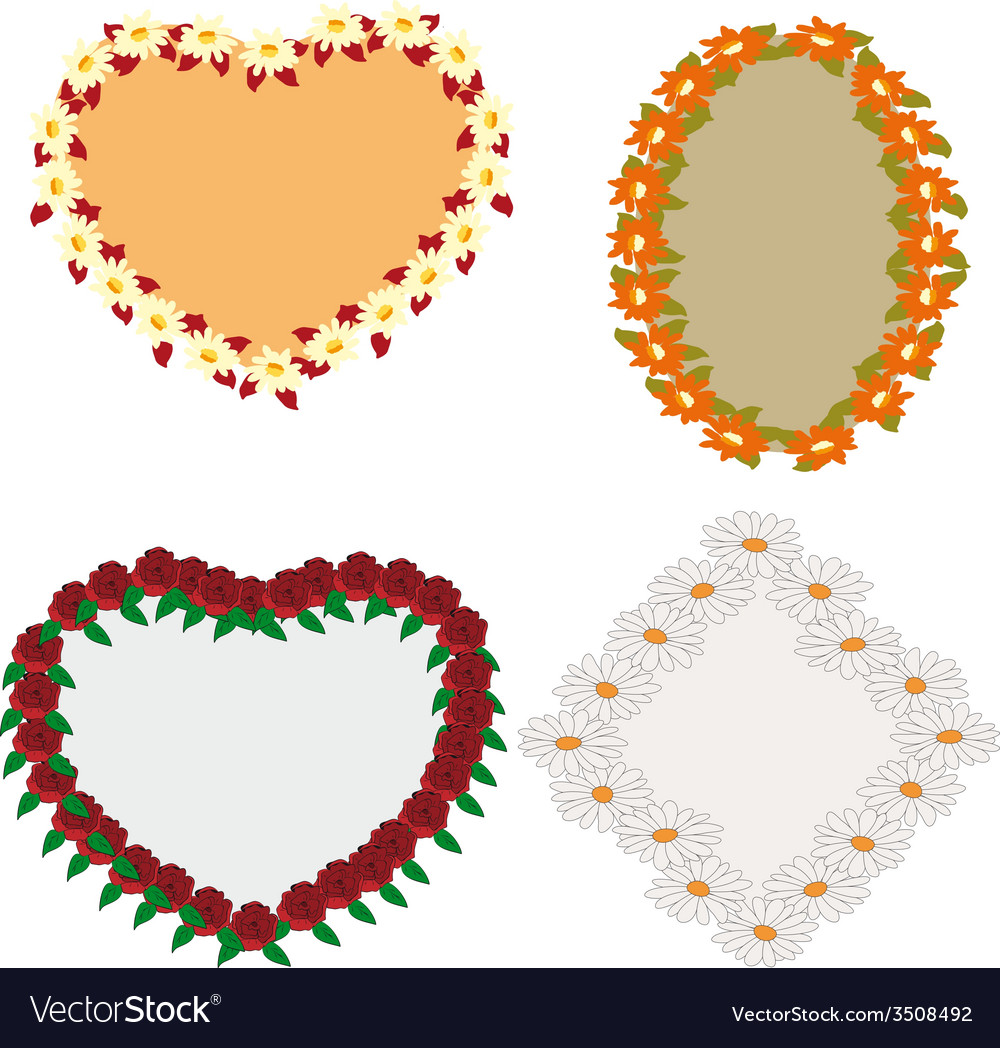 Flower frames vector image