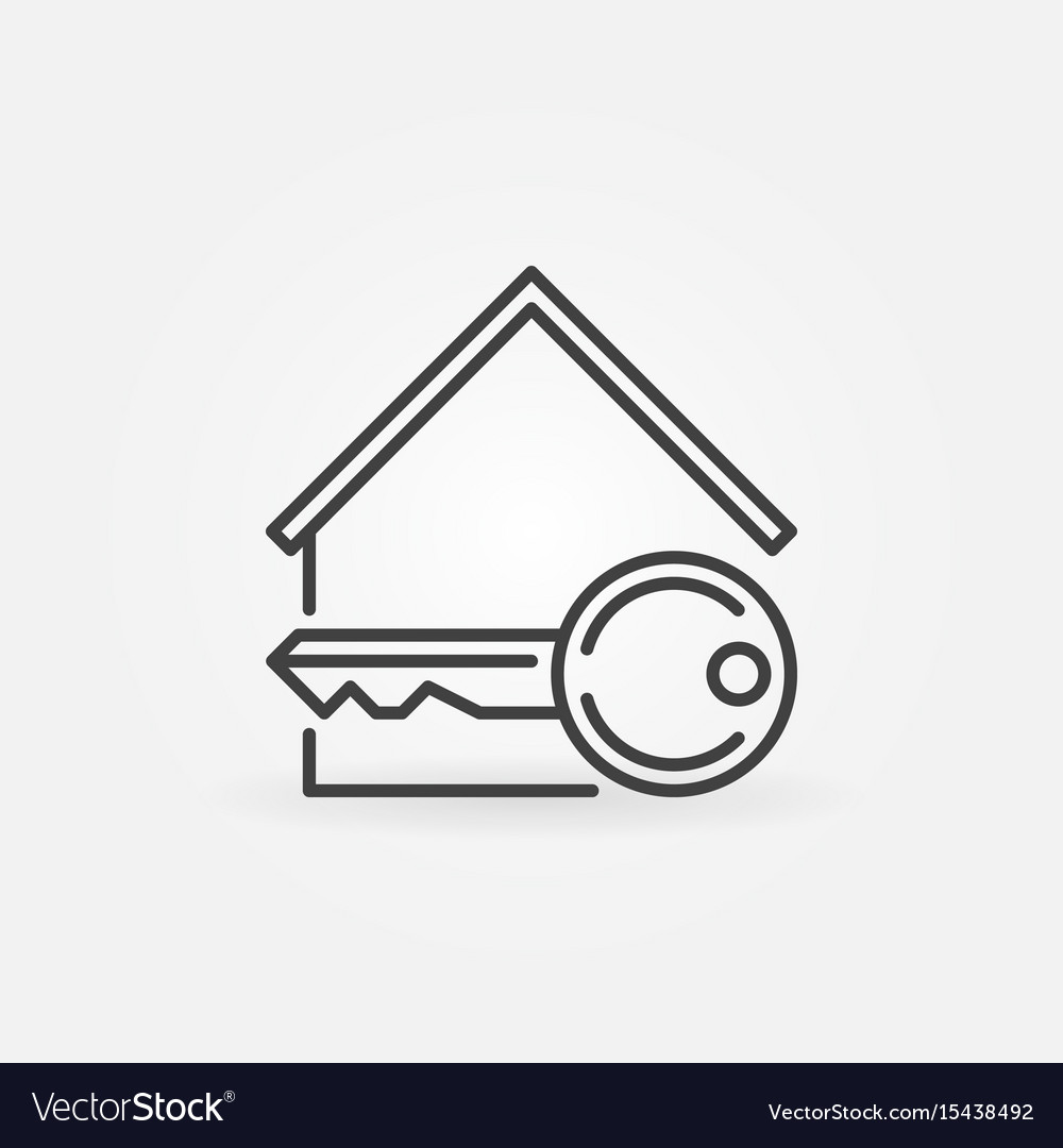 House with key icon vector image