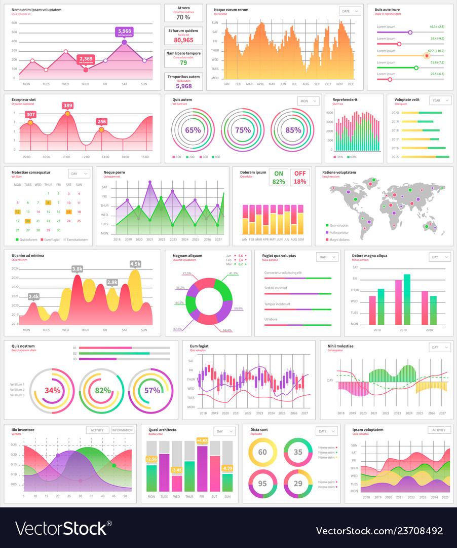 Infographics and infocharts visualization info