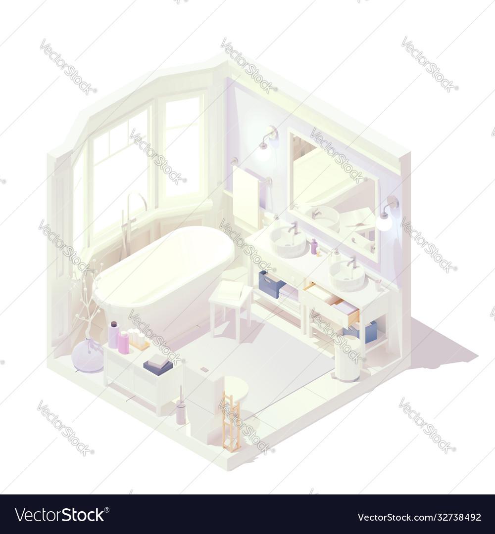 Isometric bathroom interior