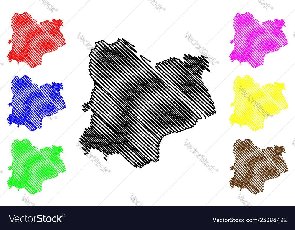 Kirklareli map Vector Image